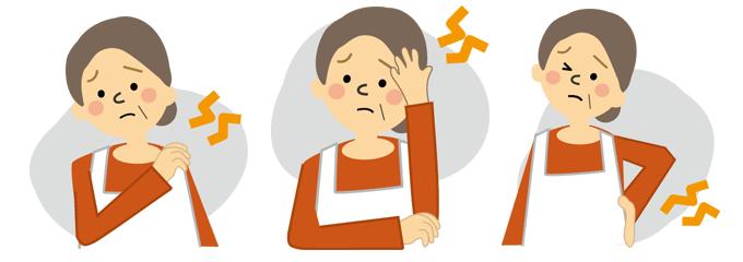 頭痛や腰痛、肩こりなどの不定愁訴